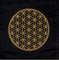 Black Flower of Life Crystal Grid Cloth | Shasta Rainbow Angels