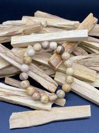 Palo Santo Stretch Bracelet | Shasta Rainbow Angels