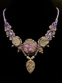 Purple Amethyst Cluster with Druzy Isha Elafi Sterling Silver Necklace | Shasta Rainbow Angels