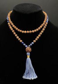 Sodalite & Rudraksha Prayer Bead Mala | Shasta Rainbow Angels