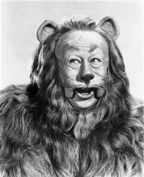 Bert Lahr dressed up as The Cowardly Lion