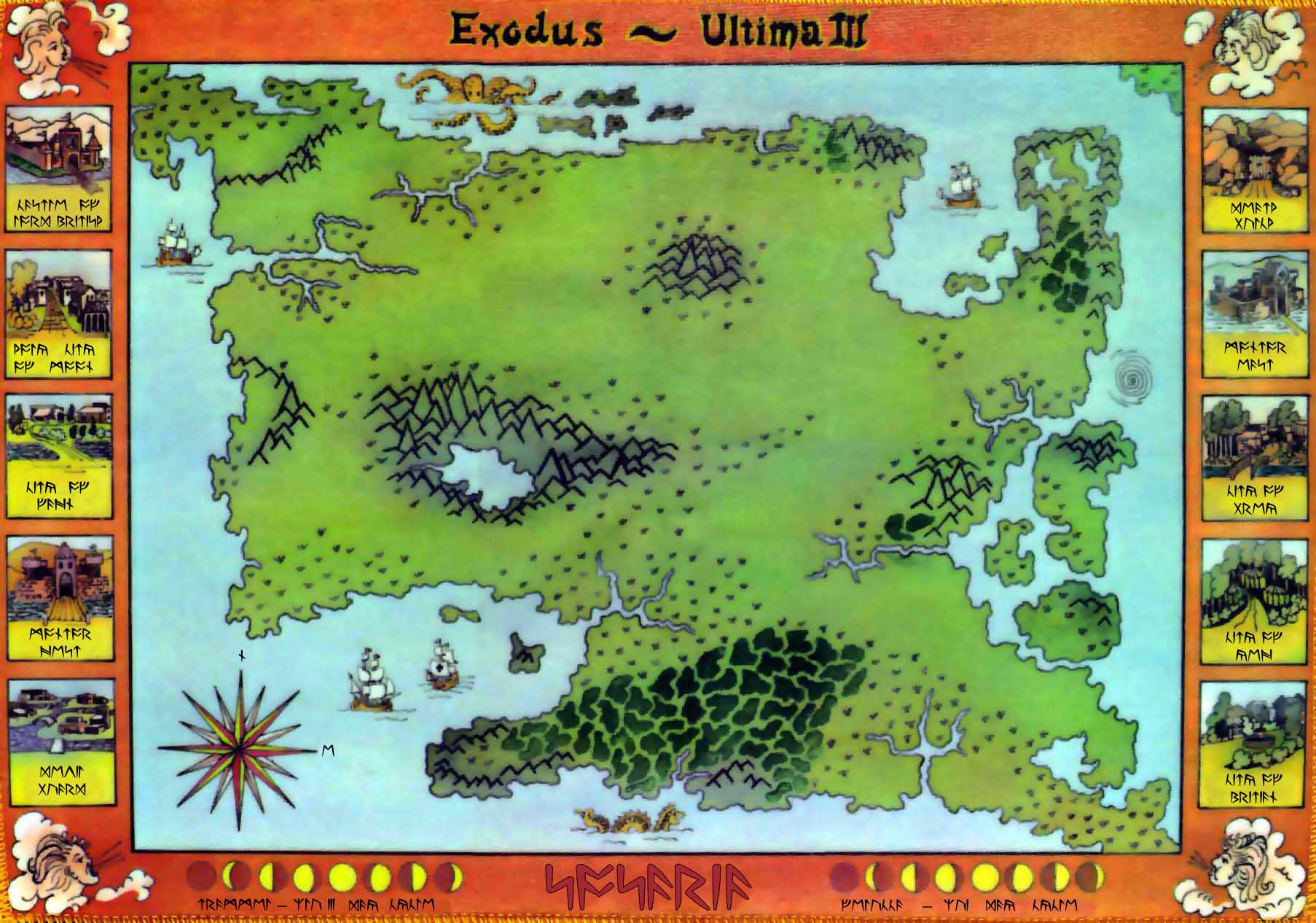 Image result for ultima 3 map