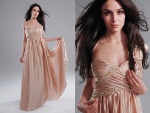 Champagne color dress photos