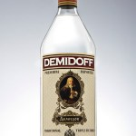 glass bottle demeidoff vodka photography by Shaun Alexander