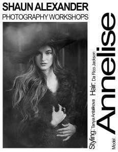 Annelise Temple fashion model at Shaun Alexander photo workshops