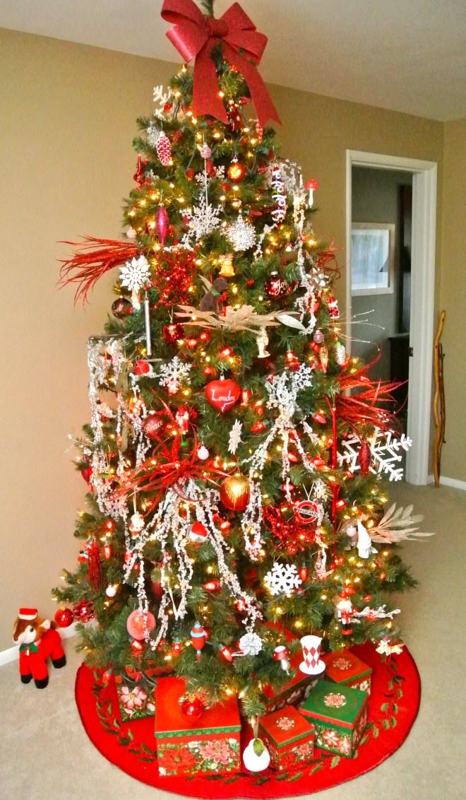 Xmas tree red