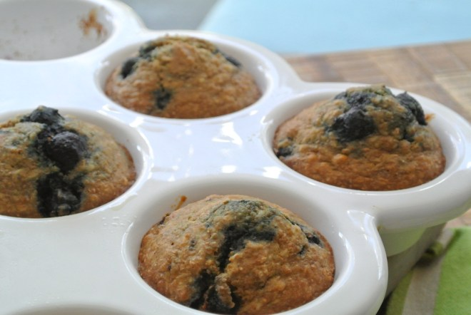 Healthy Blueberry Muffins tray