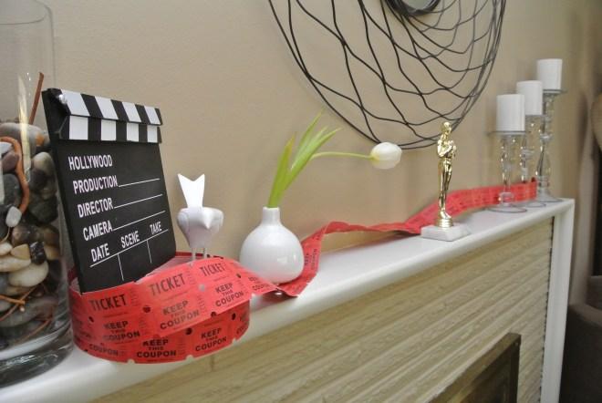Oscar decor mantle