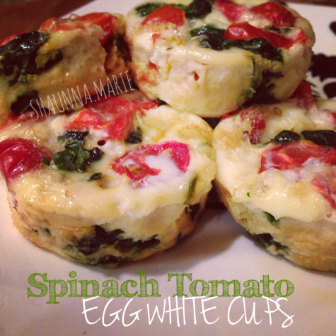 Spinach Tomato Egg White Cups