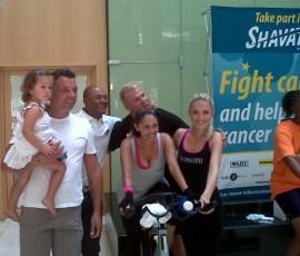 Marc Batchelor, Mark Fish, Shawn Bartlett & Melinda Bam (Miss SA) with some brave Spinathon's