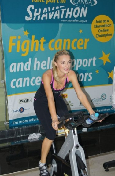 Sun International Spinathon with Miss SA Melinda Bam