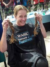 Tina Donates Pig Tails