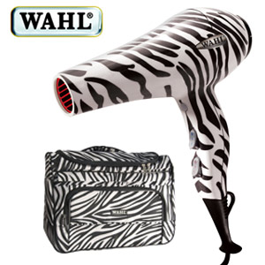 harfoen wahl funky zebra print limited edition hair dryer finehairsistaajourneytowaistlength