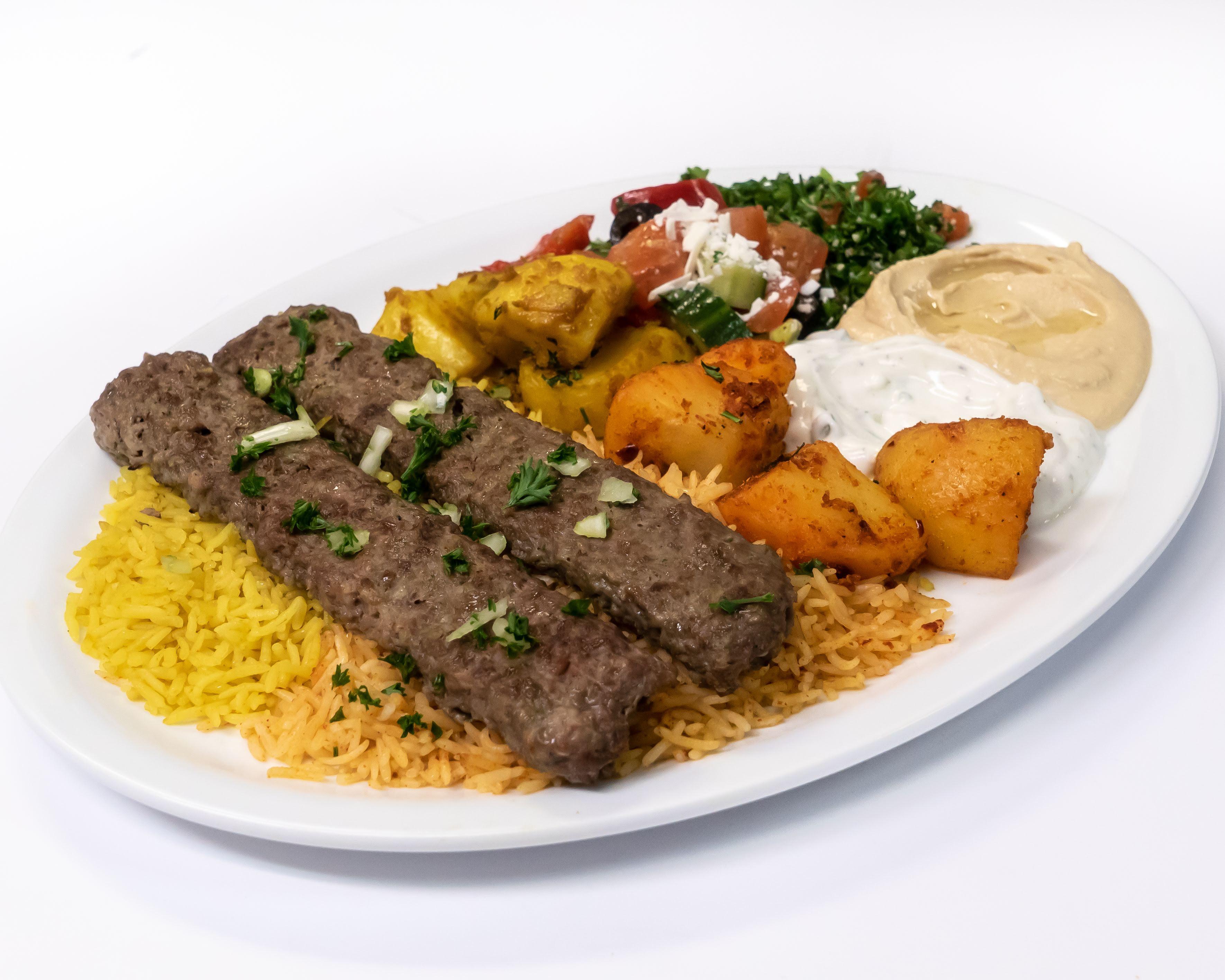Beef Kabab Plate