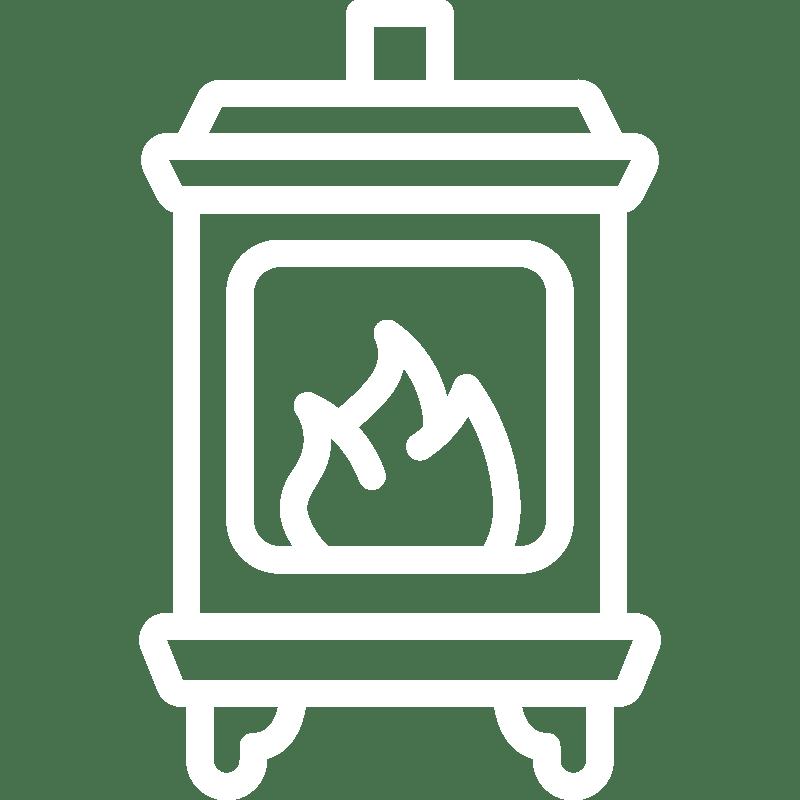 Cosy log burning stove