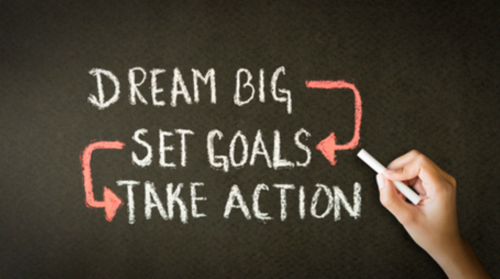 Dream Big.Set Goals.Take Action