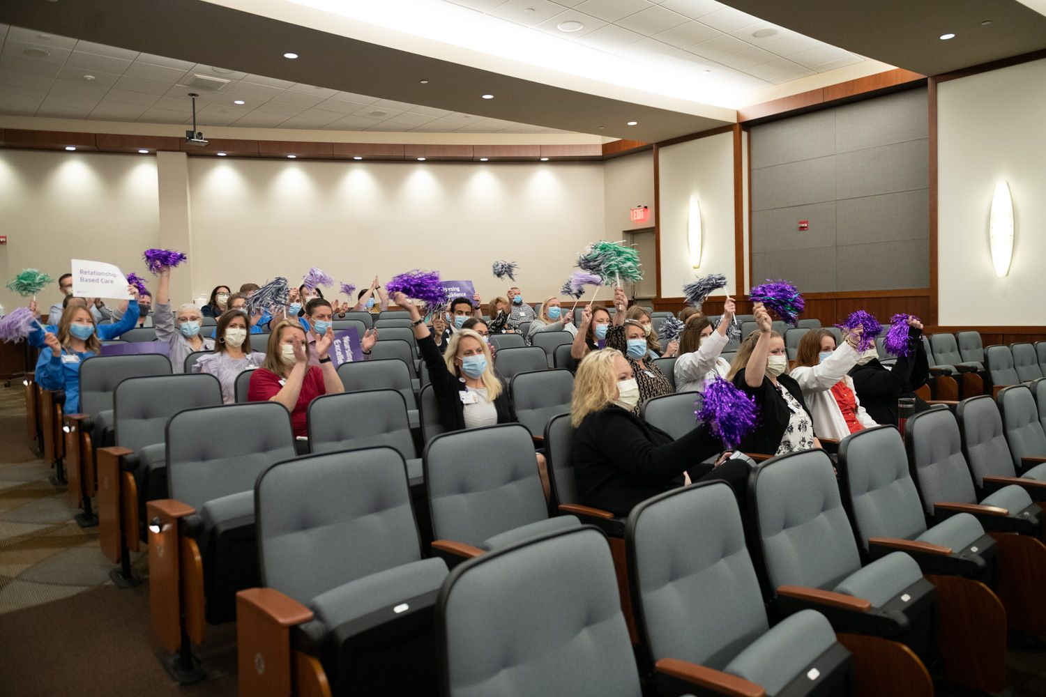 Northwestern Medicine Kishwaukee Hospital staff celebrate earning the highest accreditation possible for their work during the pandemic. (Photo provided)