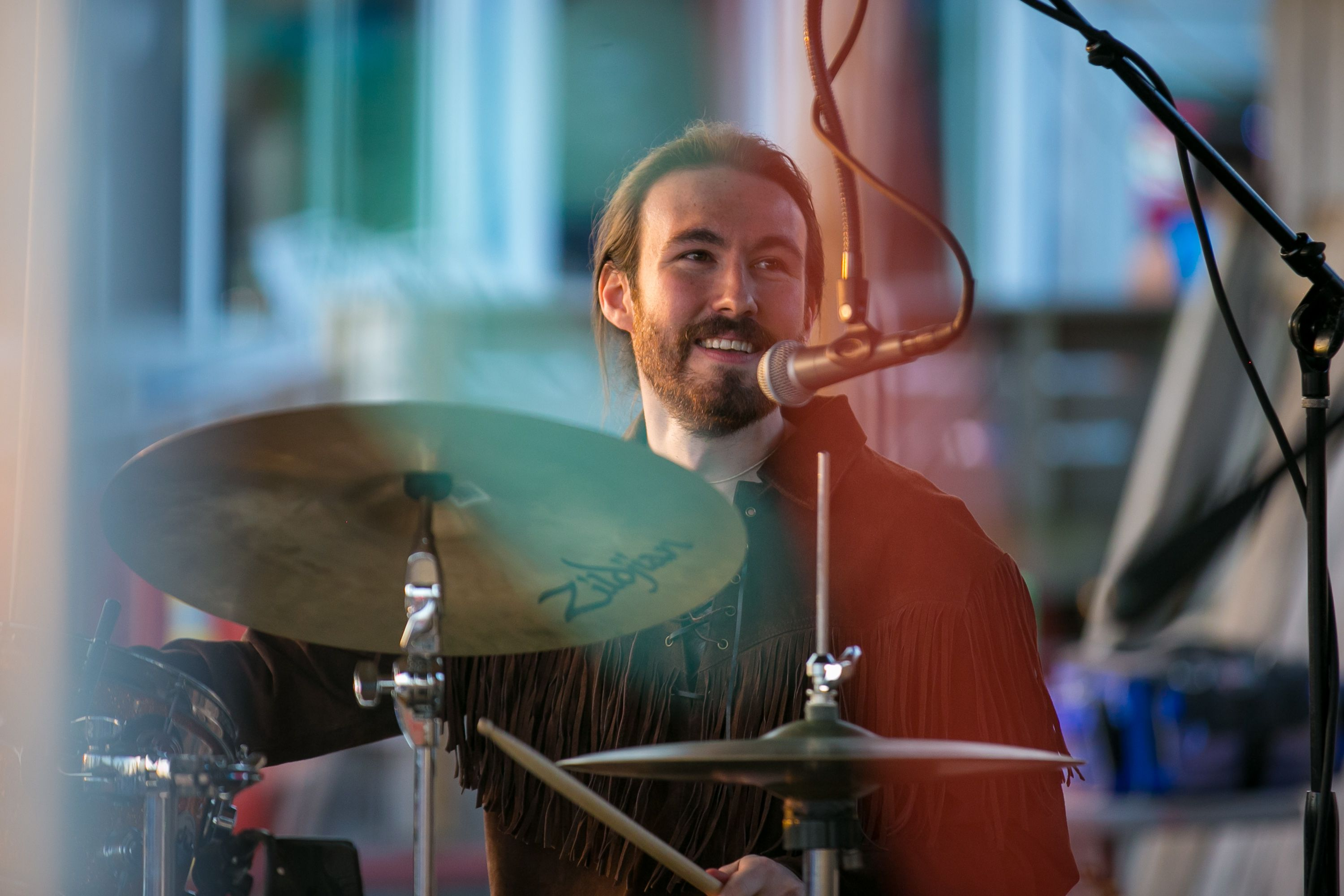 Zack Weinstein, drummer of Earthmother, performs at Mackey's Hideout on Saturday, April 3, 2021, in McHenry.