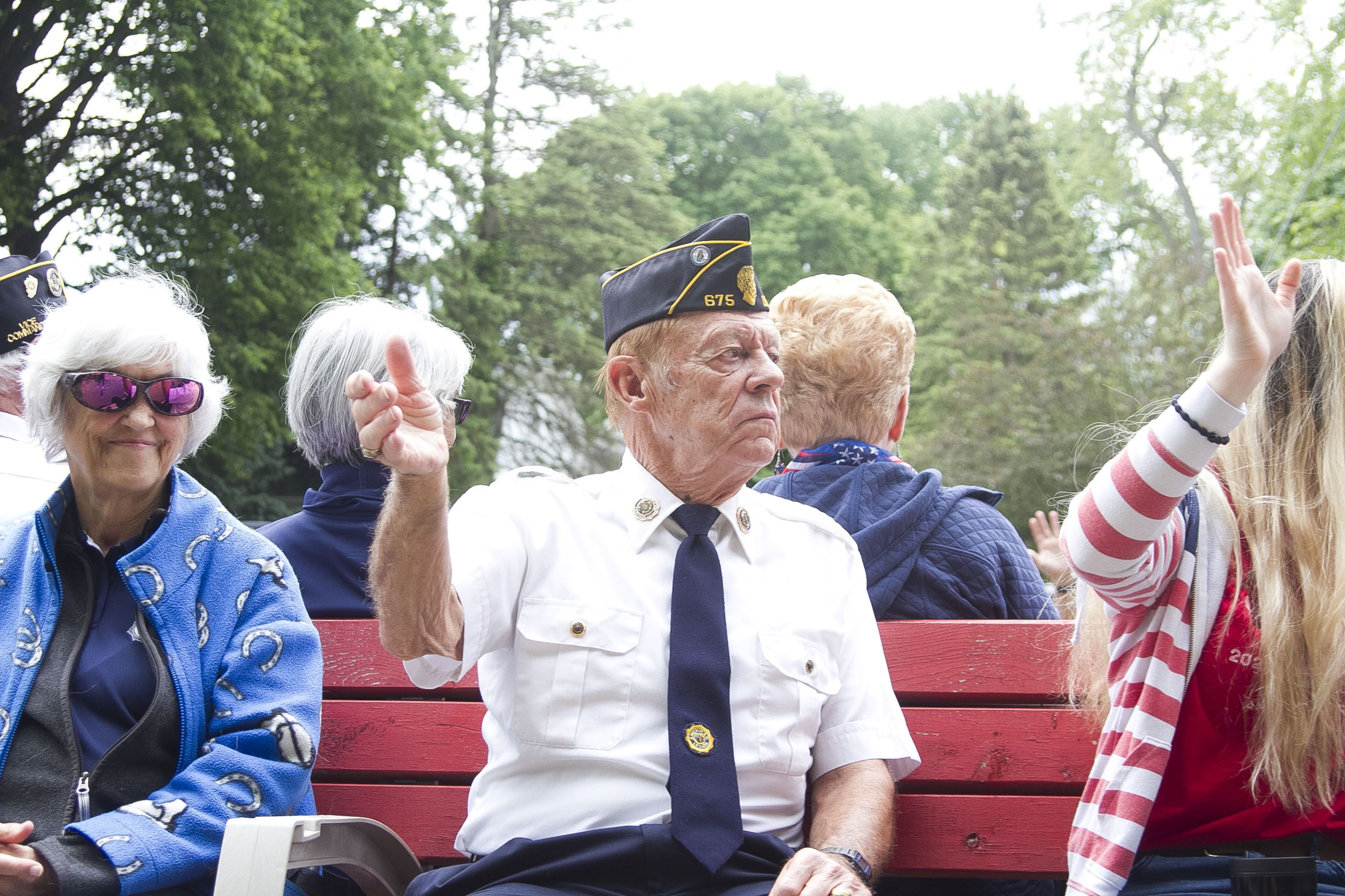 Veterans and their families rode to Oswego Township Cemetery for the annual Memorial Day ceremony led by the American Legion Post 675.