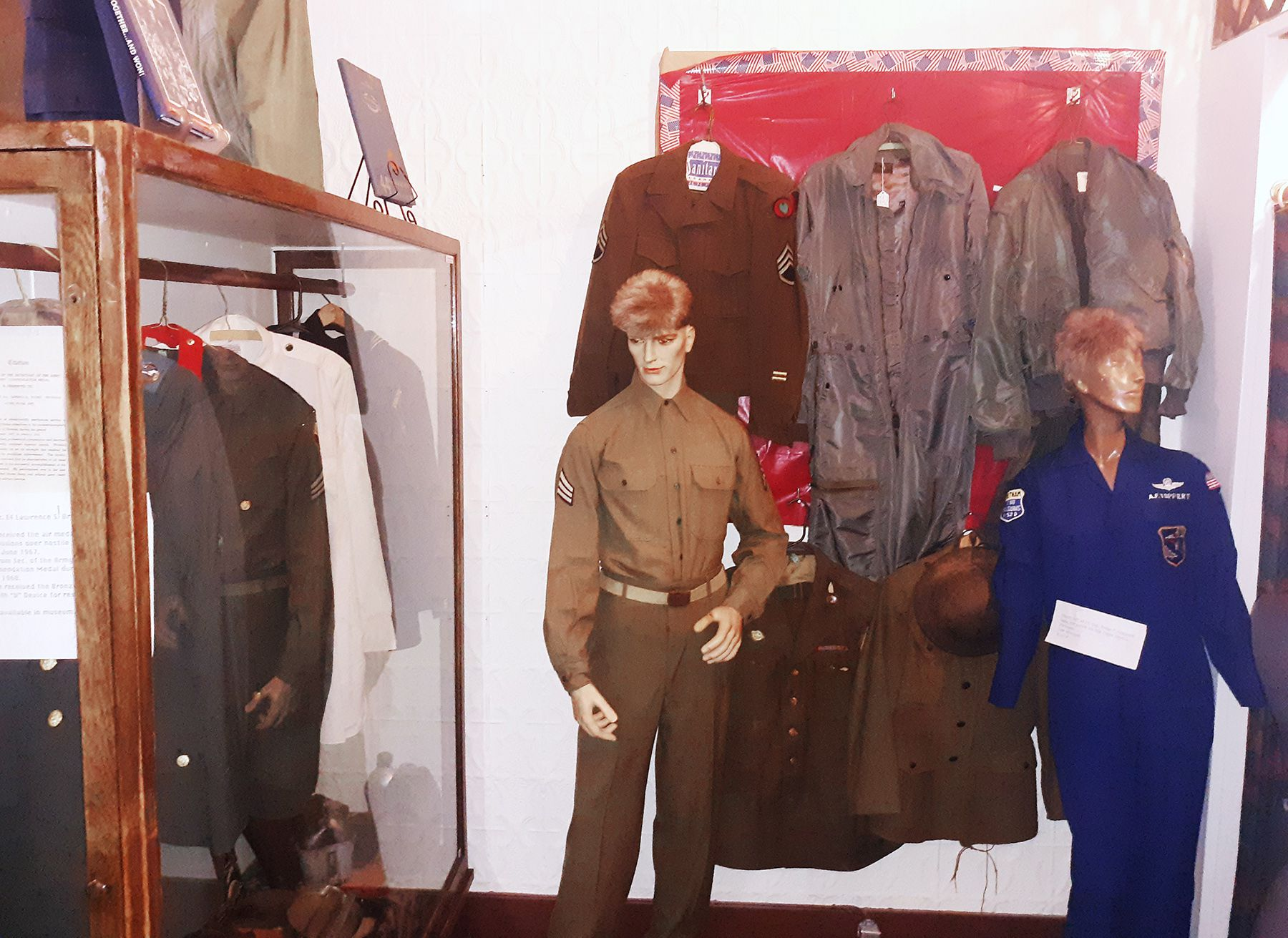 Local militaria is among the memorabilia on display at the Prophetstown Area Historical Society.