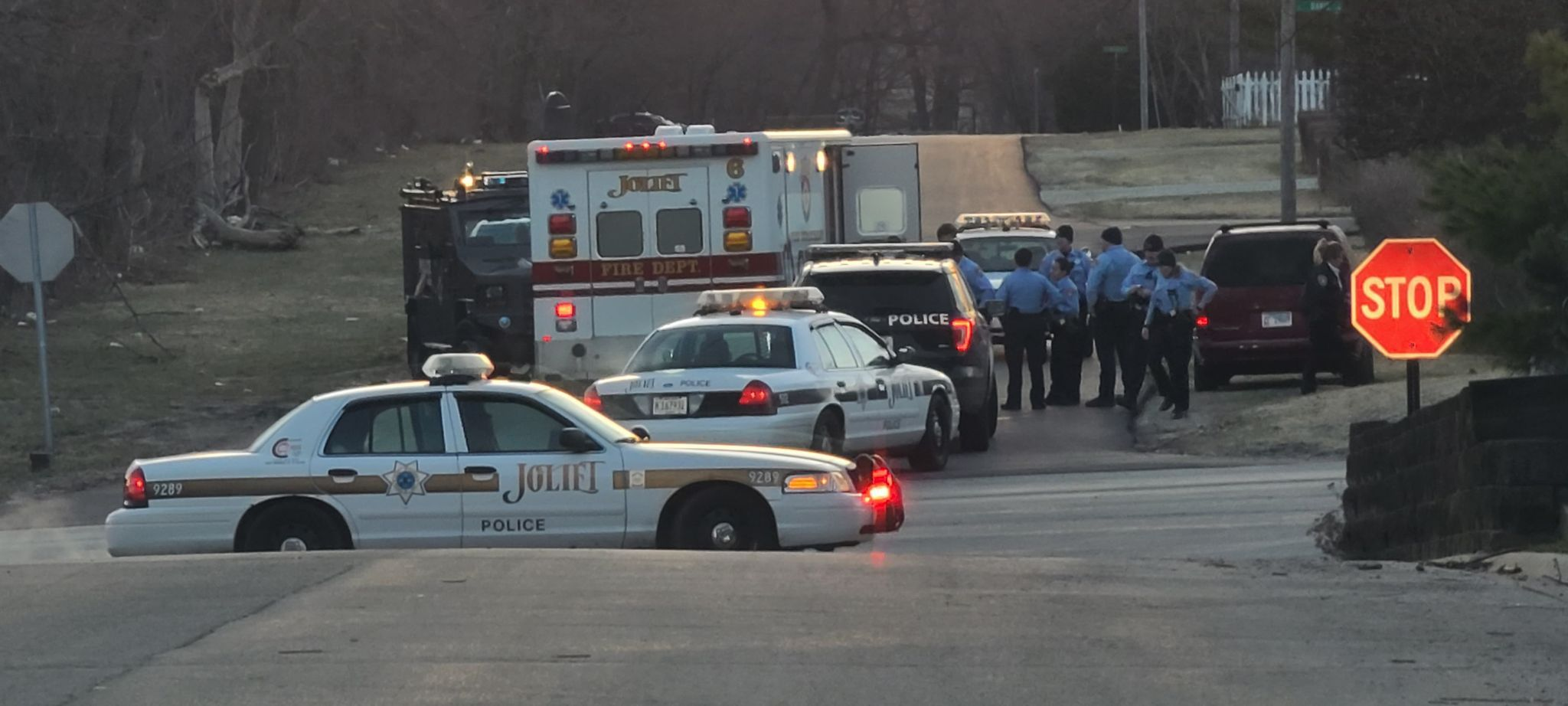 Joliet police responded to a report of a barricaded subject in a residence near the corner of Kinsey and Midland avenues early Saturday. Negotiators persuaded him to exit the home, according to police.