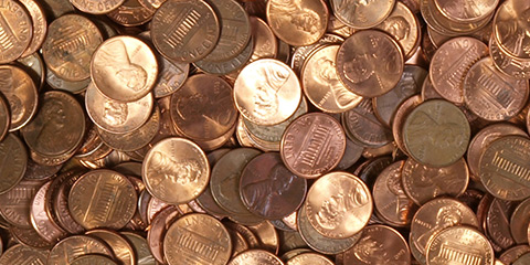 Image result for a bunch of pennies