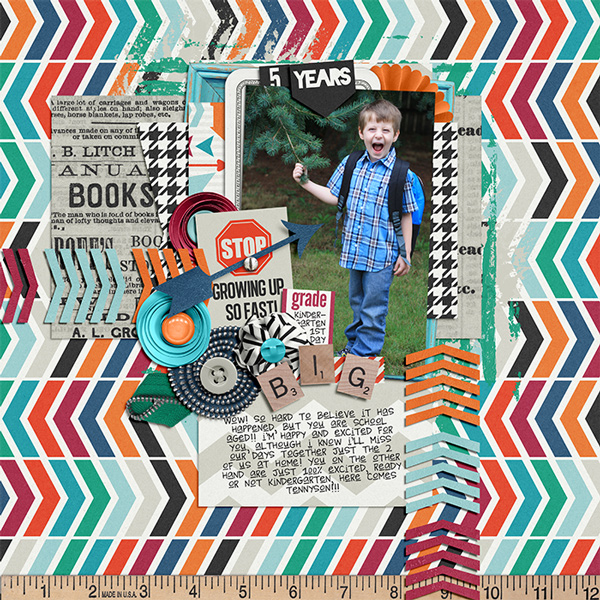 Scrapbook Layout – Big