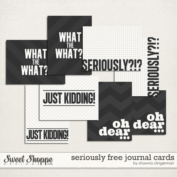 seriously – free journal cards for you!