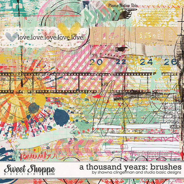 A Thousand Years Brushes by Shawna Clingerman and Studio Basic