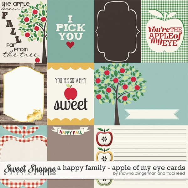 A Happy Family: Apple of My Eye Cards by Traci Reed and Shawna Clingerman
