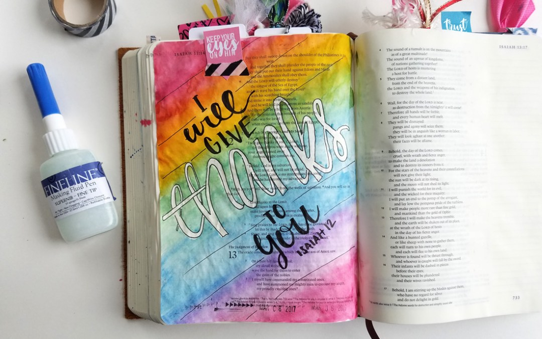 Watercolor Bible Journaling Using Masking Fluid
