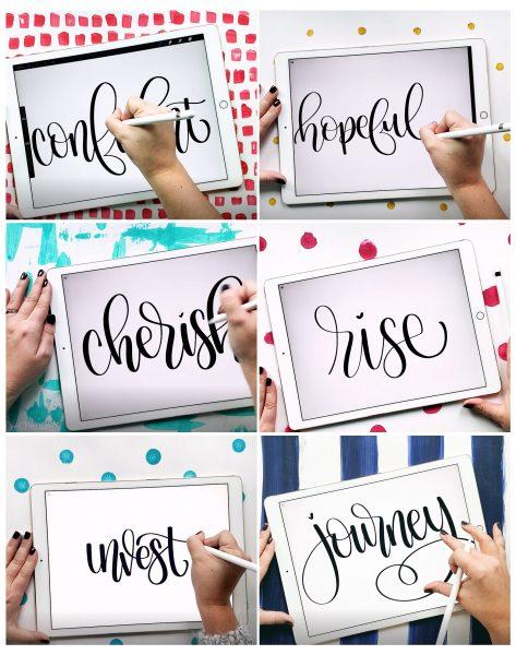 Handlettered Words