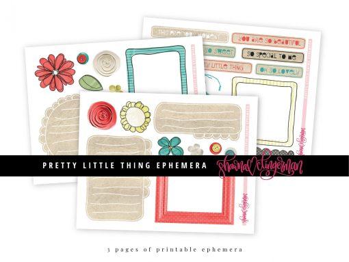 Pretty Little Thing Ephemera by Shawna Clingerman