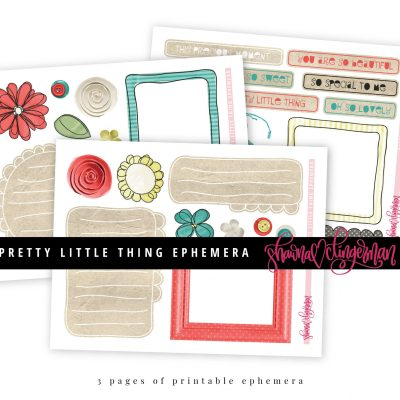 Pretty Little Thing Ephemera by Shawna Clingerman