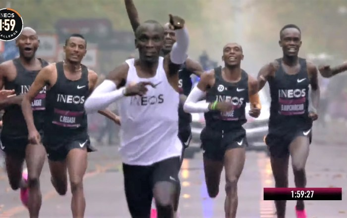 breaking the two-hour barrier in marathon