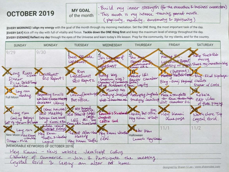 October Reflection and November Planner 2019 - meditation & consciousness