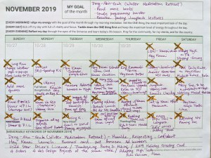 November Reflection and December Planner 2019