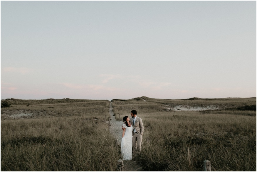 Intimate wedding in Nantucket near Surfside