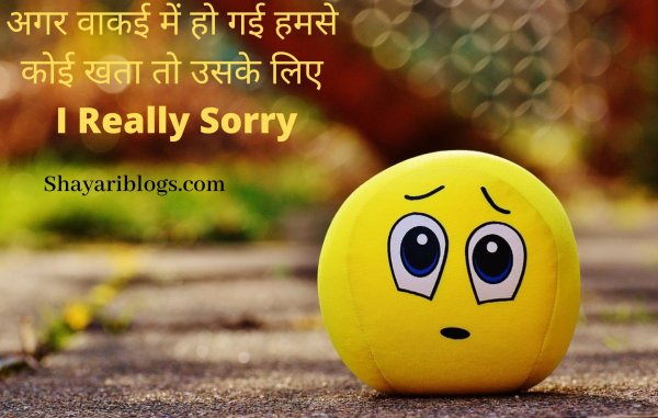 sorry shayari for girlfriend image