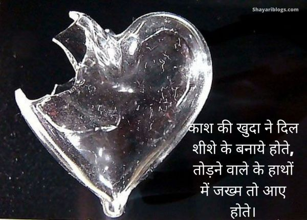 dil break shayari image