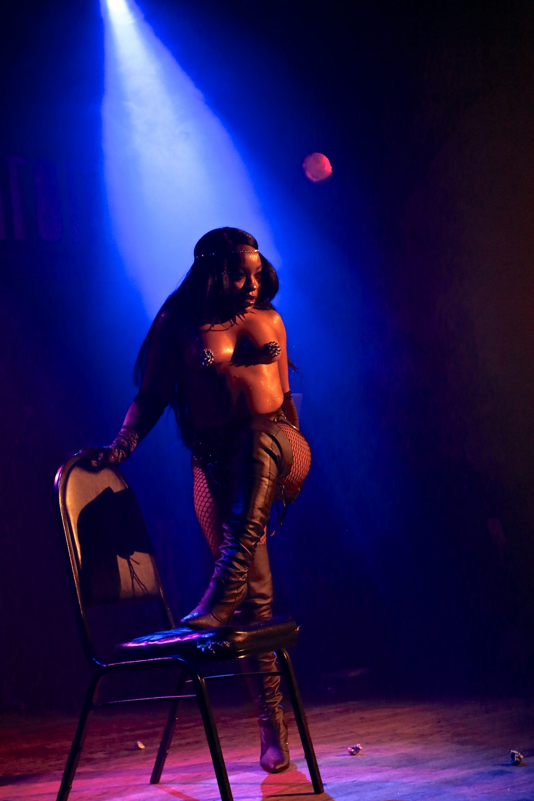 """black burlesque dancer"" - https://shayaulait.com"