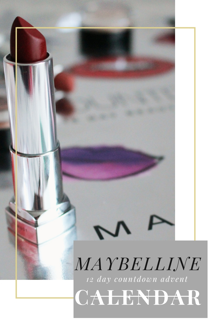 maybelline lipstick advent calendar