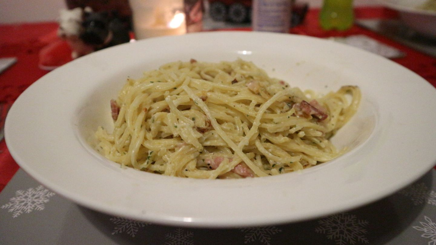 schwartz spaghetti carbonara mix review student meals