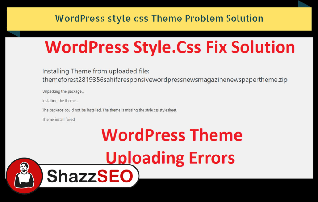 WordPress style css Theme Problem Solution