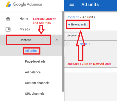Google Adsense Ads setting