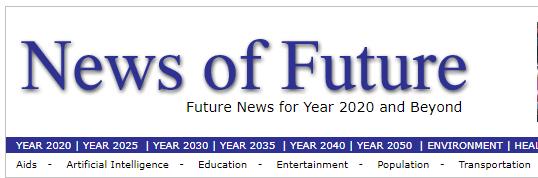 News of the future Weird web