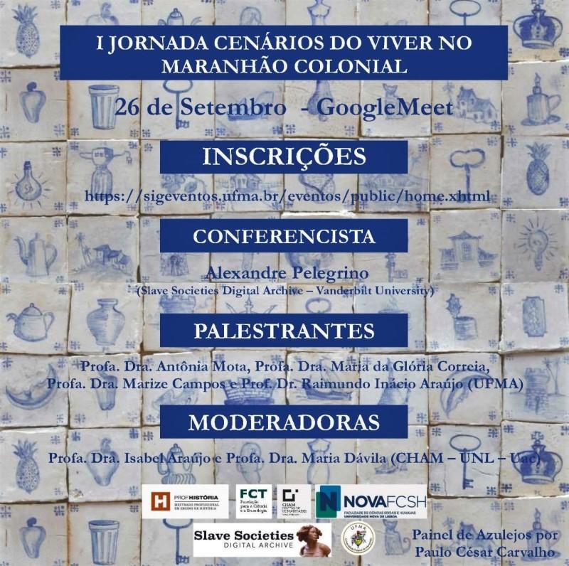 I Jornada Virtual Maranhão Colonial ocorrerá nesse sábado, 26 de setembro