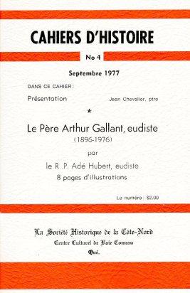 Cahier d'histoire no 4