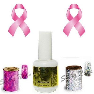 T Cancer Awareness Nail Art Foil Kit