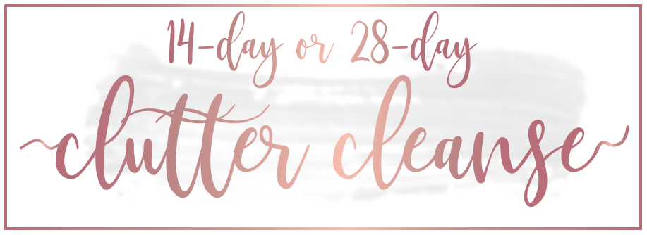 RoseGold Clutter Cleanse Banner